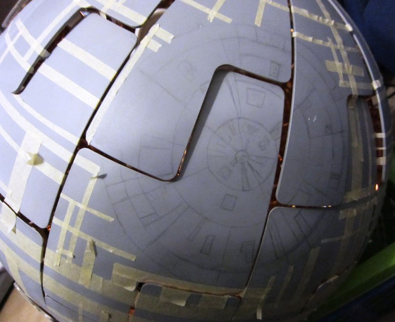 ikea death star lamp diy 6 Star War Fans Turn Popular IKEA Lamp Into Death Star