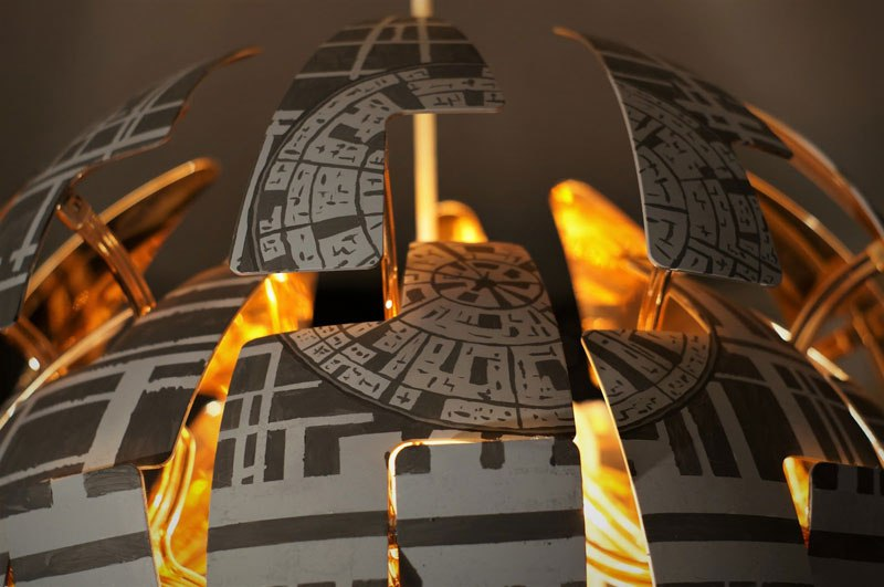 ikea death star lamp diy 11 Star War Fans Turn Popular IKEA Lamp Into Death Star