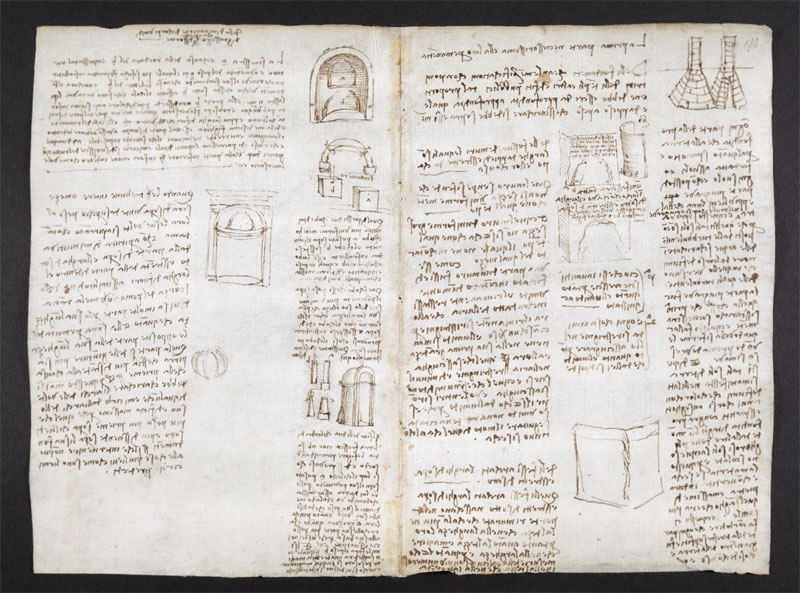 leonardo da vinci notebook 14 The British Library Has Fully Digitized 570 Pages of Leonardo da Vincis Visionary Notebooks