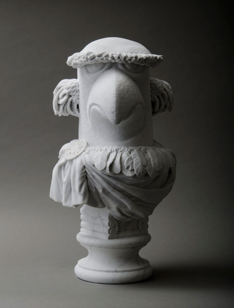 sam the eagle muppets marble bust by sebastian martorana 2 This Marble Bust of Sam the Eagle is Perfect