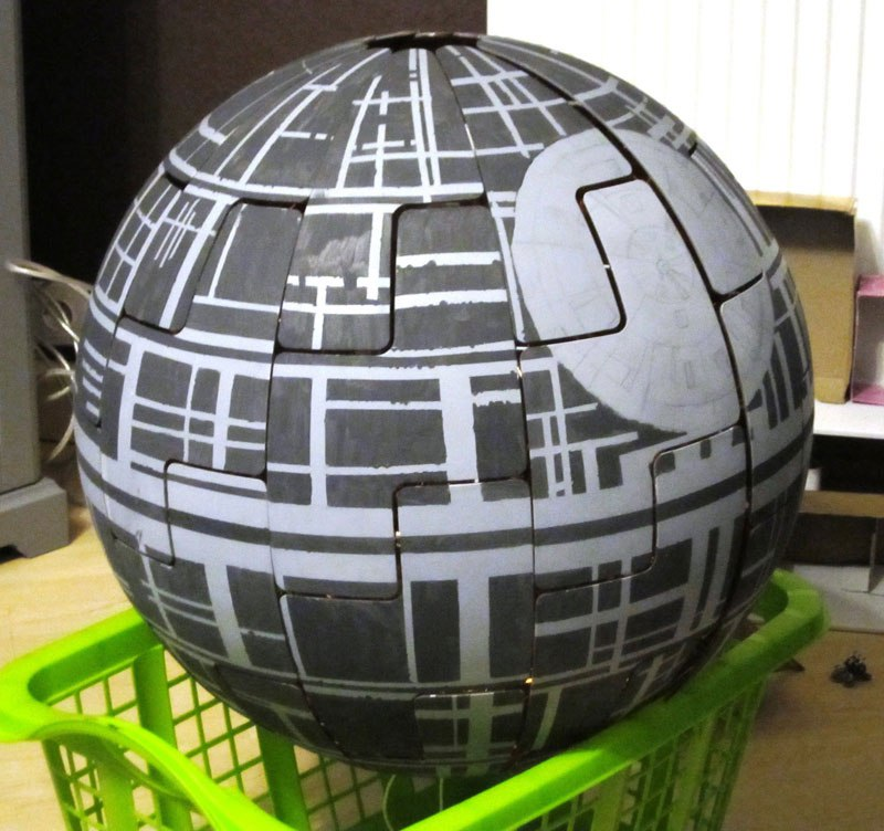ikea death star lamp diy 9 Star War Fans Turn Popular IKEA Lamp Into Death Star
