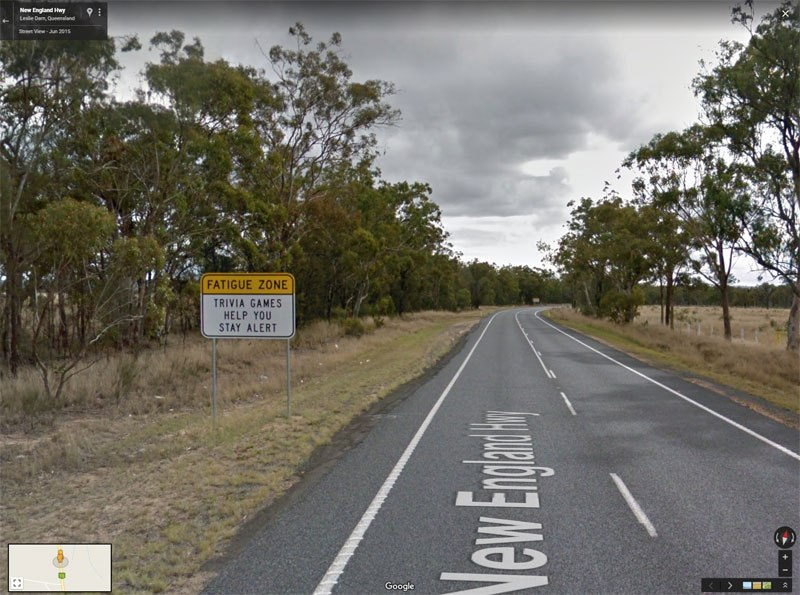 trivia road signs australia 6 There are Roads in Australia that are So Boring they Have Trivia Signs to Keep Drivers Alert