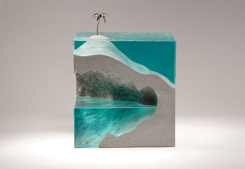 glass wave sculptures by ben young 14 Incredible Glass Wave Sculptures by Ben Young