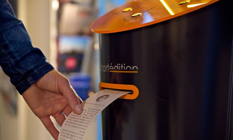 this machine prints free short stories for you to read while you wait 1 This Machine Prints Free Short Stories for You to Read While You Wait