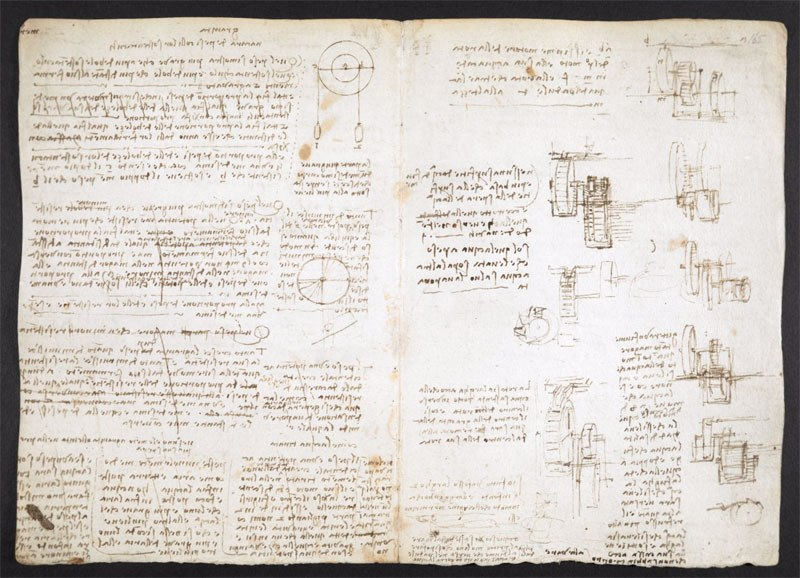 leonardo da vinci notebook 15 The British Library Has Fully Digitized 570 Pages of Leonardo da Vincis Visionary Notebooks