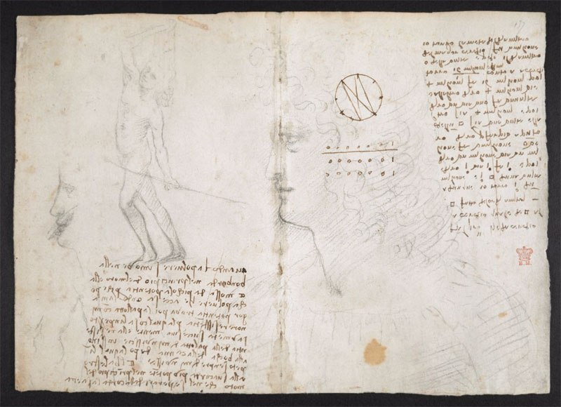 leonardo da vinci notebook 13 The British Library Has Fully Digitized 570 Pages of Leonardo da Vincis Visionary Notebooks