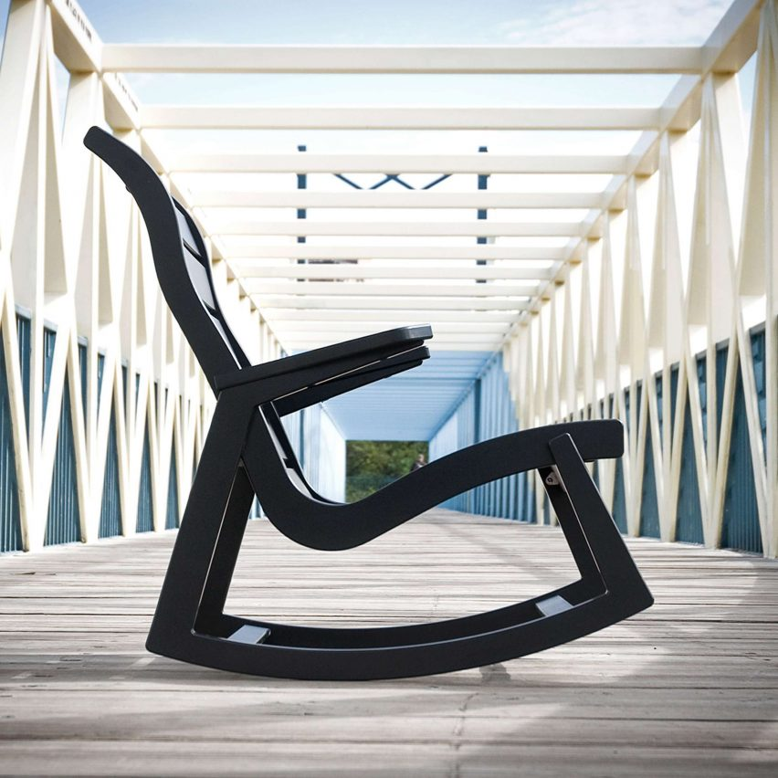 Rapson outdoor rocking chair by Loll Designs