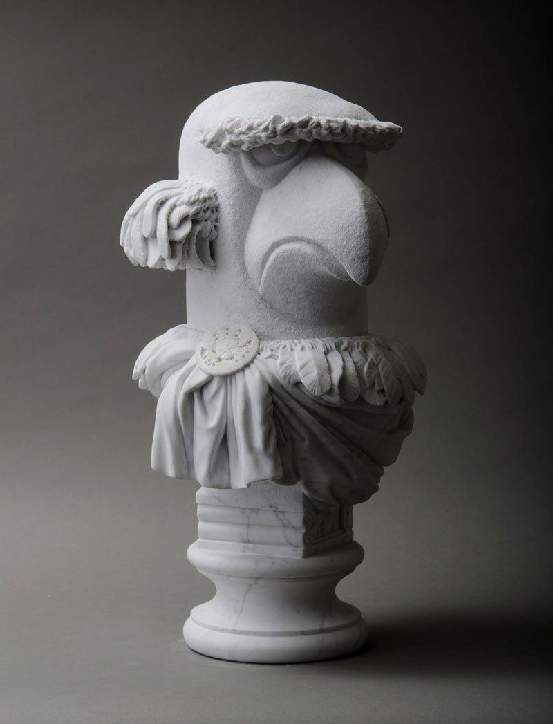 sam the eagle muppets marble bust by sebastian martorana 6 This Marble Bust of Sam the Eagle is Perfect