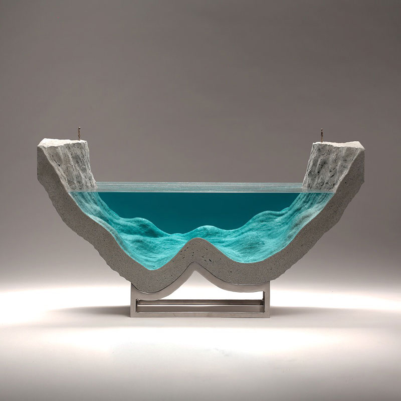 glass wave sculptures by ben young 3 Incredible Glass Wave Sculptures by Ben Young