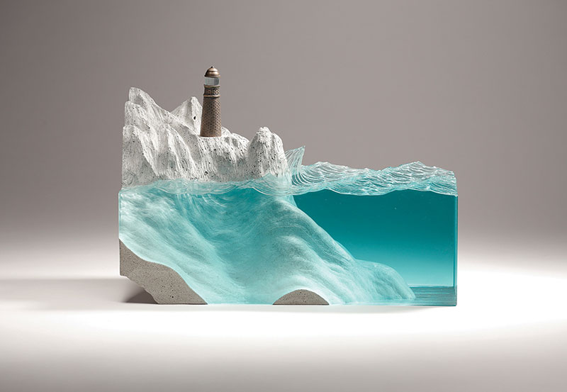 glass wave sculptures by ben young 7 Incredible Glass Wave Sculptures by Ben Young