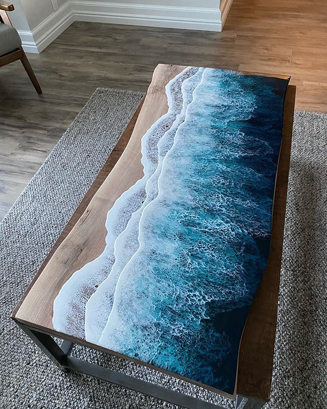 live edge ocean surface tables by rivka wilkins and jared davis 4 These Live Edge Ocean Shore Coffee Tables are Incredible (18 Pics)