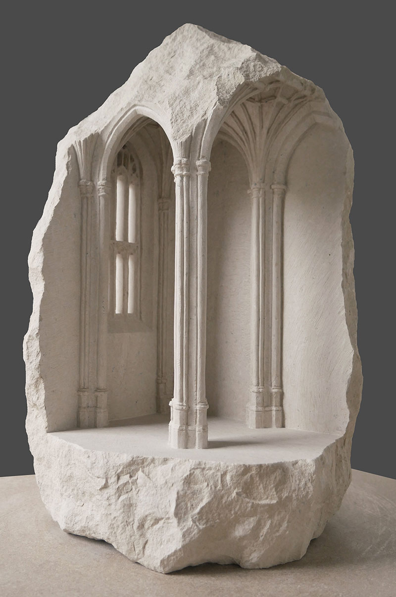 mini classical architecture carved into raw chunks of marble limestone matthew simmonds 7 Small Scale Classical Architecture Carved Into Chunks of Raw Marble and Limestone