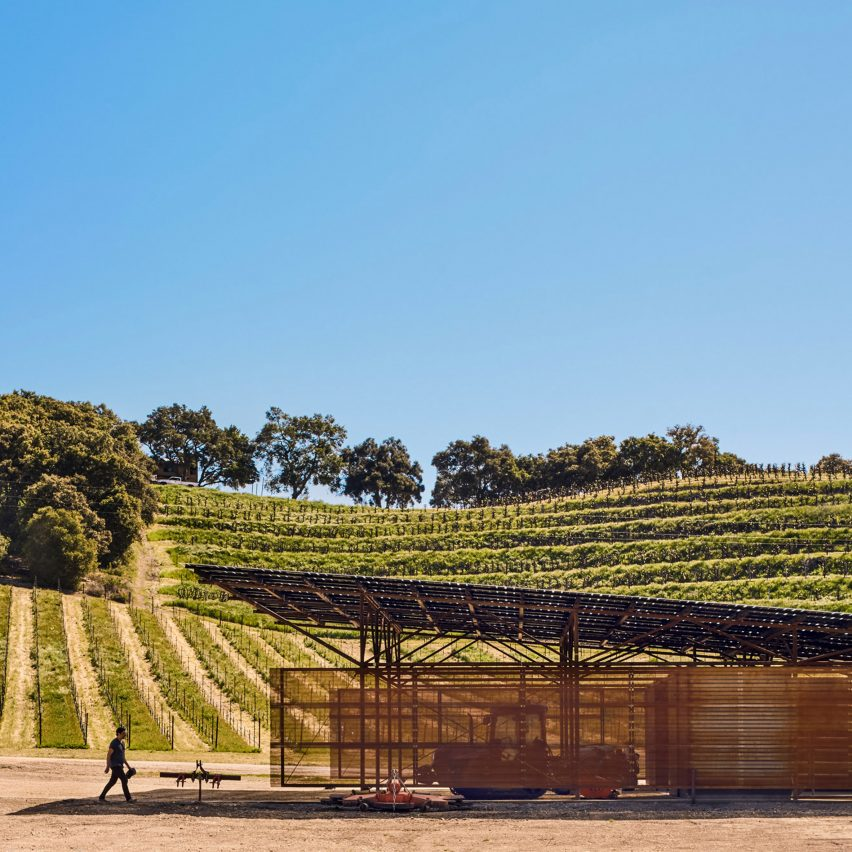 Saxum Vineyard Equipment Barn by Clayton and Little