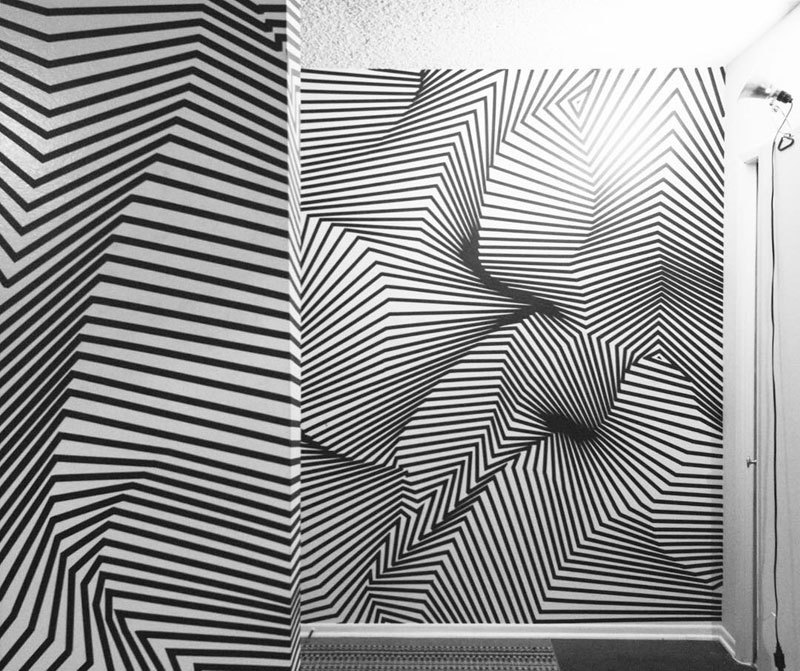 tape art installations by darel carey 6 Mesmerizing Tape Art Installations by Darel Carey