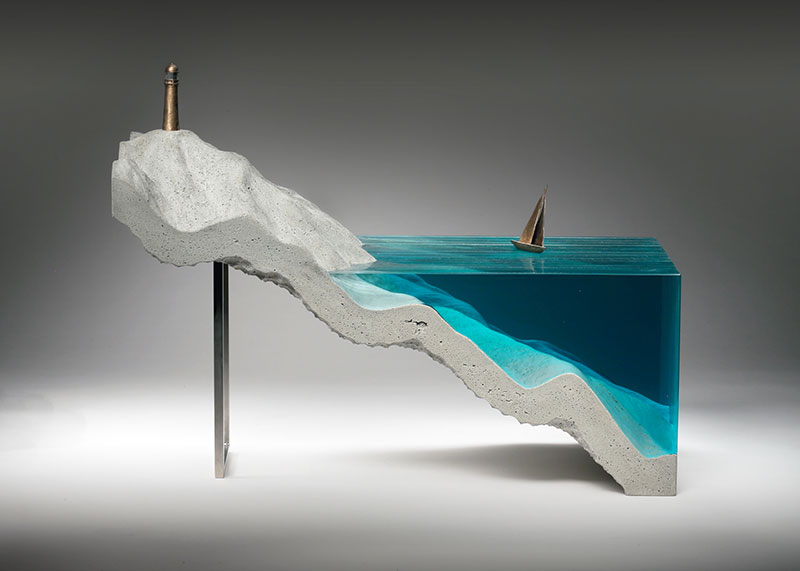 glass wave sculptures by ben young 10 Incredible Glass Wave Sculptures by Ben Young