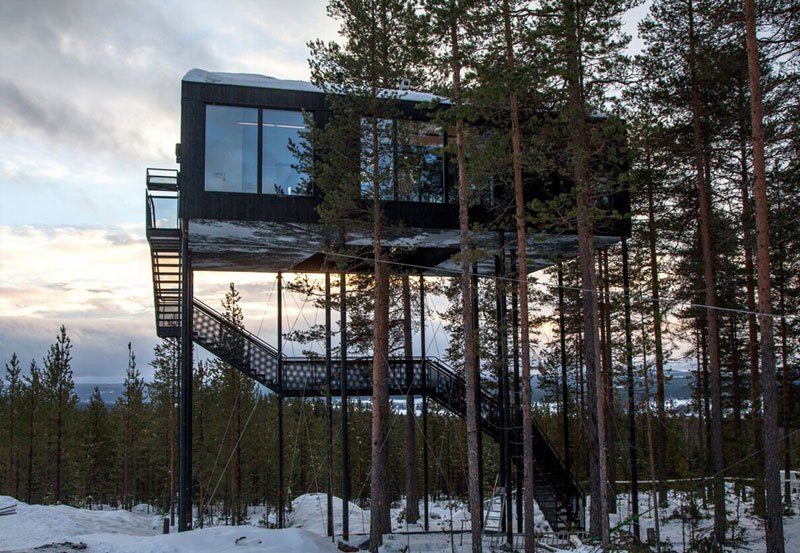 treehotel sweden the 7th room 4 The Newest Room at Swedens Treehotel has an Outdoor Net With a Tree Through It