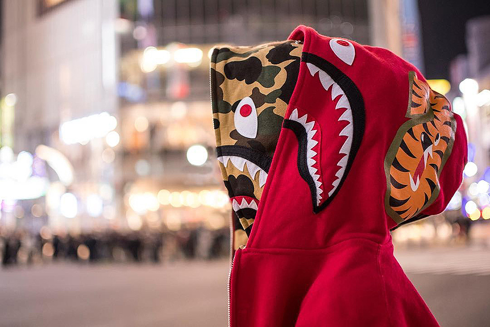 Bape Drops A Double Shark Hoodie Along With Winter