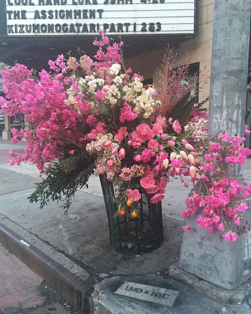 giant flower bouquets new york city streets lews miller design 4 A Team of Florists Have Been Leaving Giant Bouquets Around New York and Its Amazing