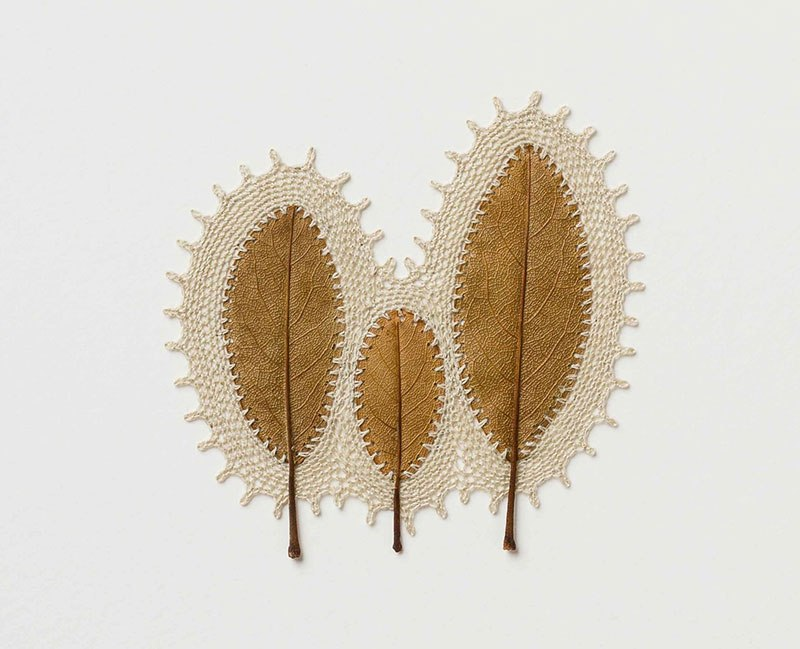 crochet leaves by susanna bauer 18 Artist Crochets New Life Into Fallen Leaves