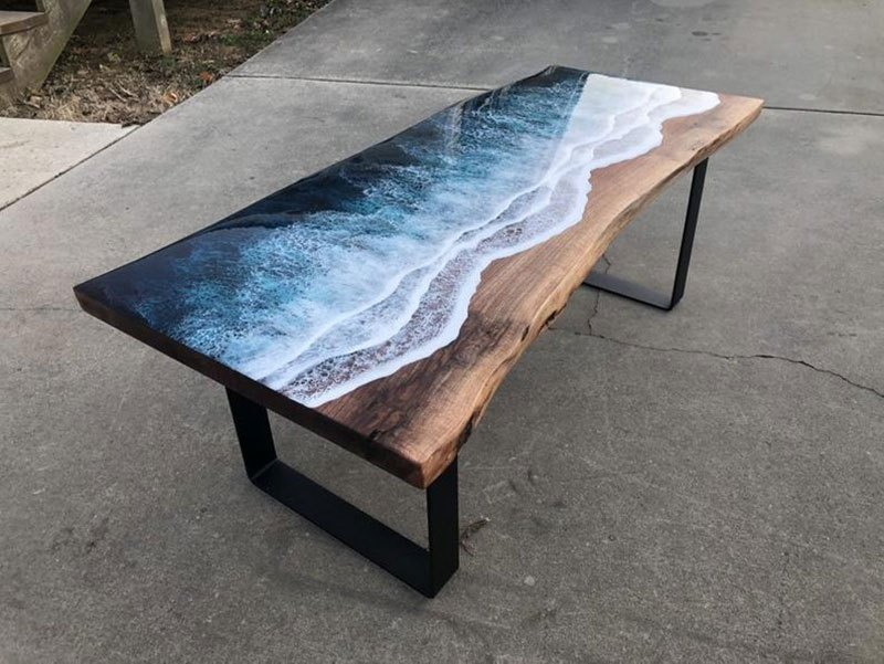 live edge ocean surface tables by rivka wilkins and jared davis 12 These Live Edge Ocean Shore Coffee Tables are Incredible (18 Pics)