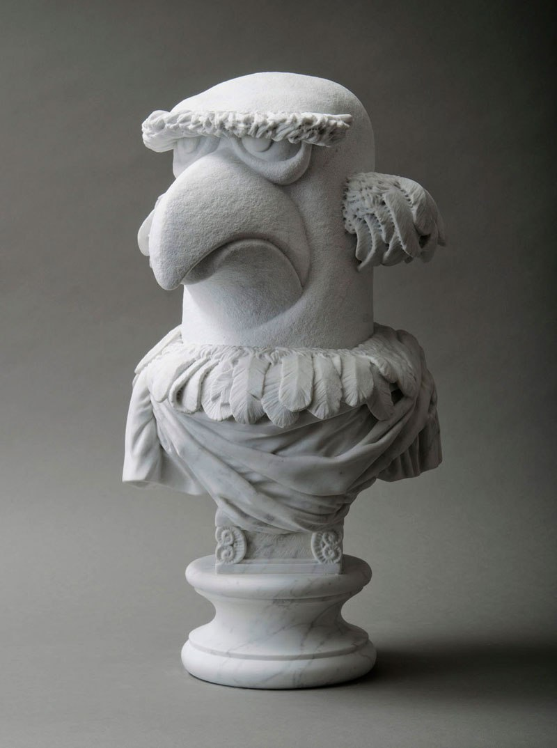 sam the eagle muppets marble bust by sebastian martorana 3 This Marble Bust of Sam the Eagle is Perfect