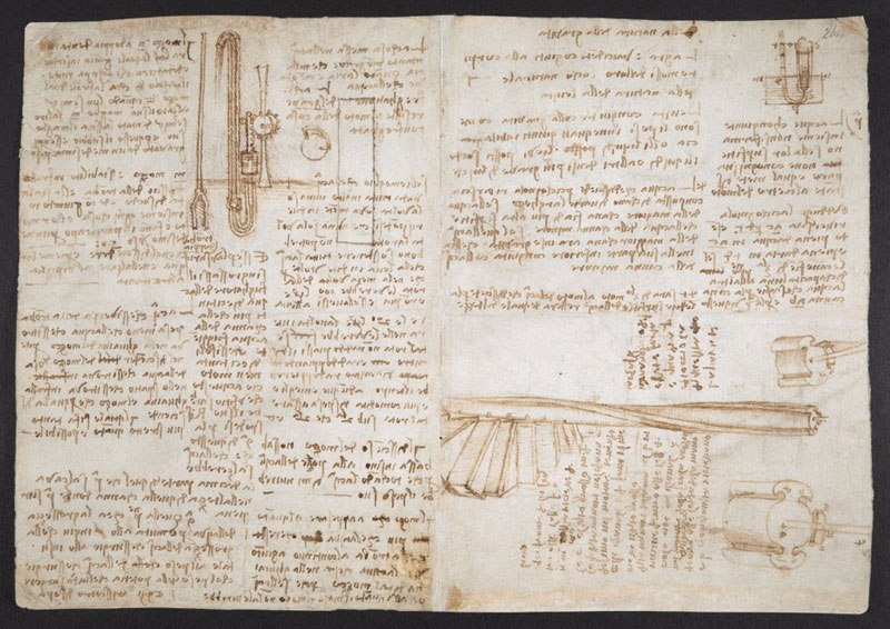 leonardo da vinci notebook 23 The British Library Has Fully Digitized 570 Pages of Leonardo da Vincis Visionary Notebooks